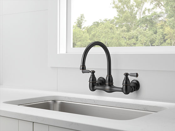 Two-handle Wall-mount Faucet